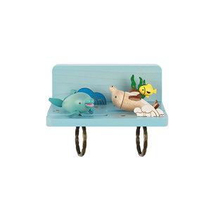 Jean台湾木质海豚钥匙挂钩冰箱磁吸装饰送节日创意礼物壁饰品