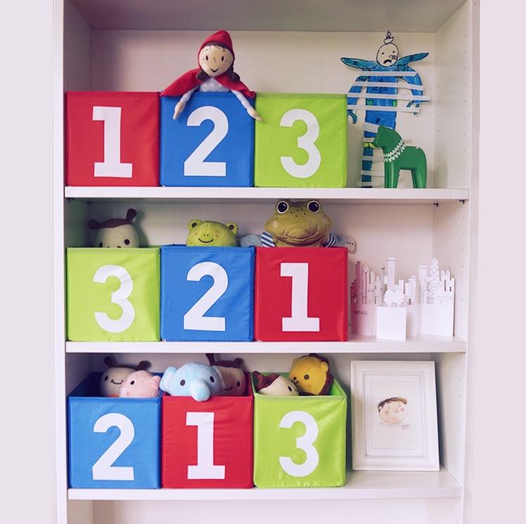 数字收纳箱桌面收纳盒内衣储物盒 123收纳篮抽屉箱玩具盒2件包邮