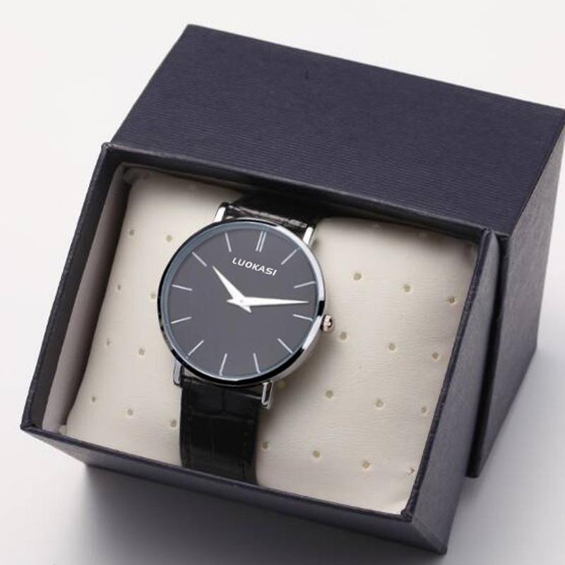 2021 new watch male student trend Korean fashion leather non mechanical quartz watch waterproof mens Watch