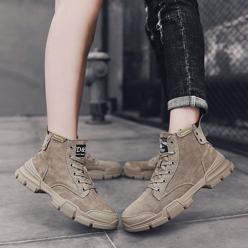 马丁靴男高帮工装靴子潮鞋机车鞋男士马丁鞋情侣短靴一对夏季男鞋