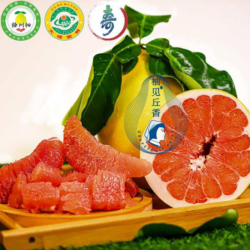 正宗梅州大埔红心蜜柚应季新鲜孕妇水果红肉蜜柚子2个盒装4斤左右
