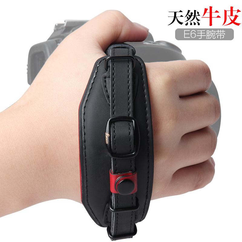 包邮 真皮手腕带单反相机70D 80D D7200 D610 A7S手腕带单反配件