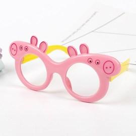 男女儿童小猪佩奇玩具眼镜框社会人无镜片小女孩可爱时尚公主配饰
