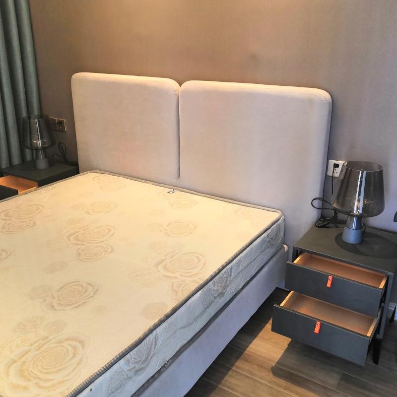新总府美式乡村风格创意水泥台灯欧式田园卧室床头烟灰色玻璃装品
