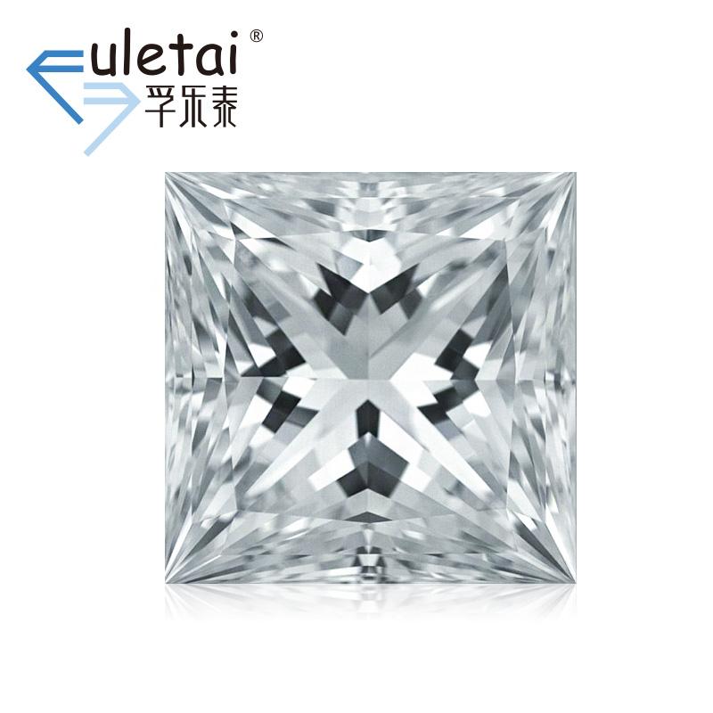 孚乐泰异型裸钻石定制1.5克拉VVS2 F色公主方形结婚钻戒定制gia