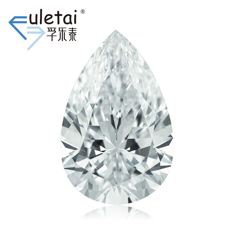 孚乐泰异型裸钻石定制1克拉VVS2 D色水滴形结婚钻戒定制gia钻