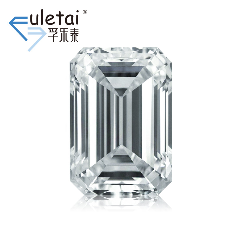 孚乐泰异型裸钻石定制2.07克拉VVS1 F色祖母绿形结婚钻戒定制gia