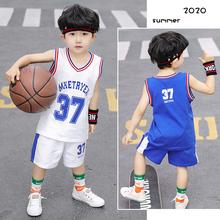 童装男童夏装2020新款宝宝纯棉背心套装儿童运动篮球服两件套潮衣