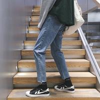 ins潮流男士修身bf风九分牛仔裤质量怎么样