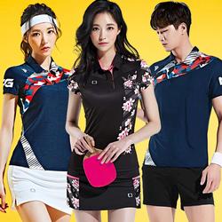 2020韩国新品短袖羽毛球服男女队服