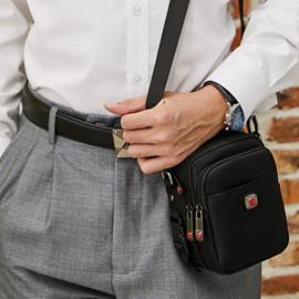 瑞士男士背包多功能手机包穿皮带腰包牛津帆布小单肩包运动斜挎包图片
