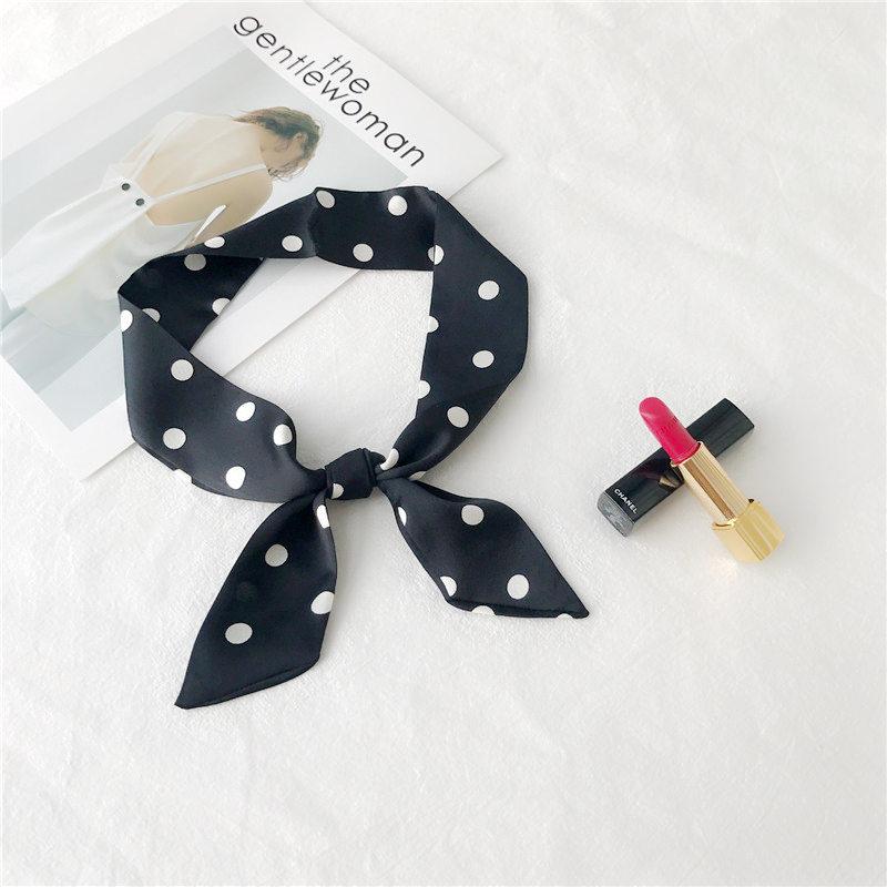韩国新夏季细窄长条小丝巾女士围巾头巾装饰领巾手带绑包包带飘带