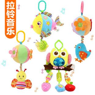 音樂安撫推車吊掛件0-1歲 嬰兒寶寶牀掛鈴3-6-12個月益智拉鈴玩具