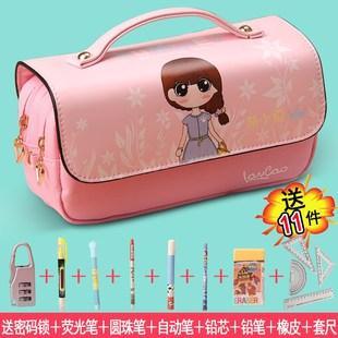 韩国简约女生小清新可爱大容量笔袋