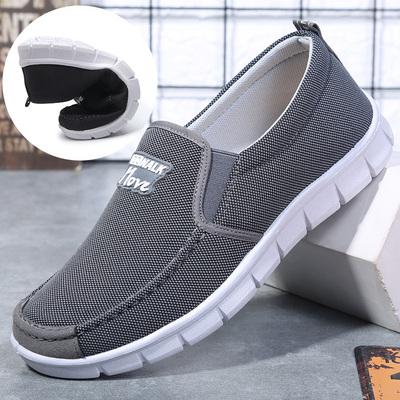 中老年人球鞋老爸鞋男老北京布鞋男中年走步鞋工地鞋子老人帆布鞋