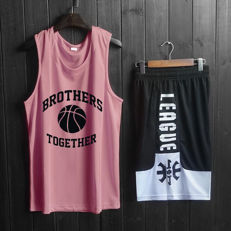 篮球服背心男女训练宽松运动短裤健身潮无袖上衣球衣套装定制队服