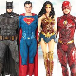 正义联盟蝙蝠侠 超人 神奇女侠 闪电侠英雄手办模型玩具摆件人偶