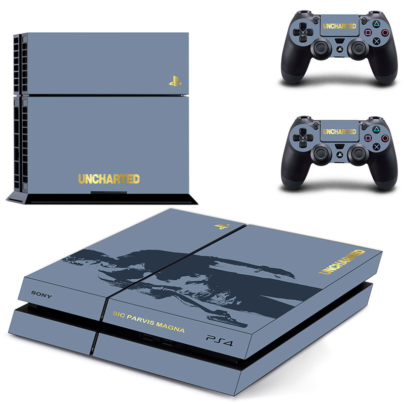 Uncharted Vinyl Decal PS4 Skin Stickers Wrap for Sony PlaySt