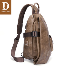 Did's Brassiere Men's Single Shoulder Bag Slant Bag Men's Bag Fashion Fashion Brand Men's Bag 2019 New Leisure Small Backpack