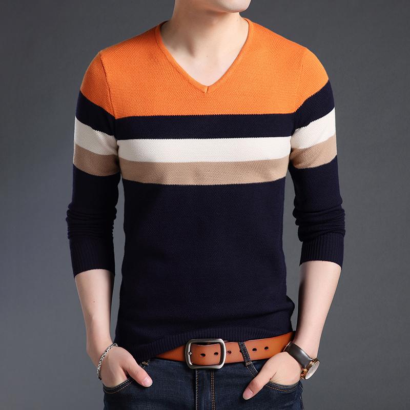布度尼2020秋季新款V领长袖打底针织衫