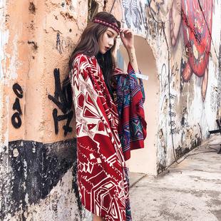 土耳其民族风围巾 夏季棉麻丝巾女百搭旅游拍照防晒披肩沙漠围巾