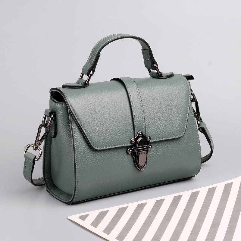 真皮女包2021新款夏季韩版网红牛皮迷你手提包女气质简约斜挎小包