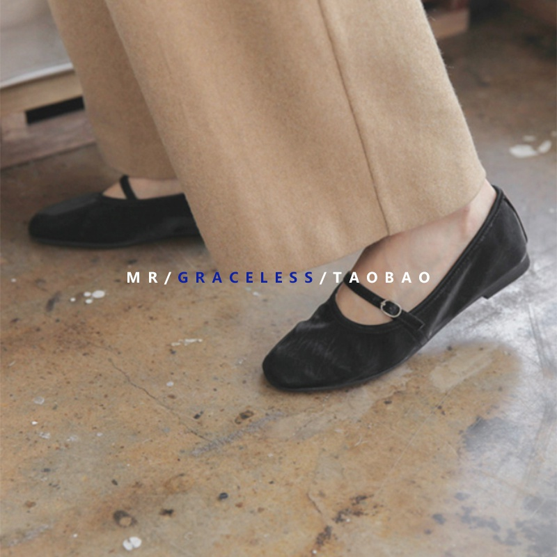 Mr. not elegant | single shoe Ballet Flat Shoes with shallow mouth, simple and versatile Japanese style