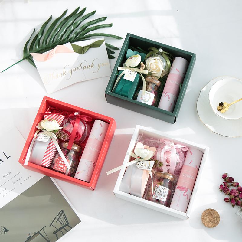 12-01新券创意婚礼伴手礼女伴娘伴手礼盒结婚回礼婚庆用品喜糖礼盒装糖果盒
