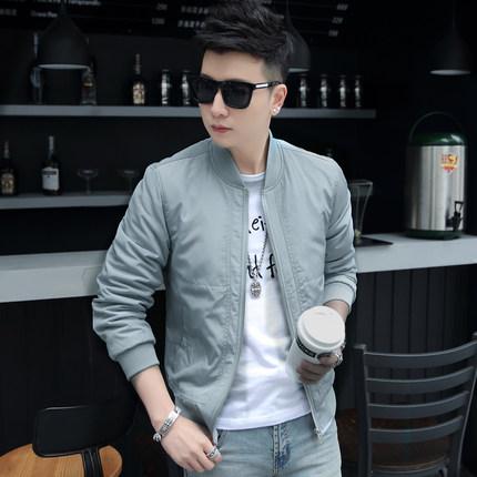 2018新款春季男士修身时尚休闲韩版夹克青年百搭薄款棒球服外套