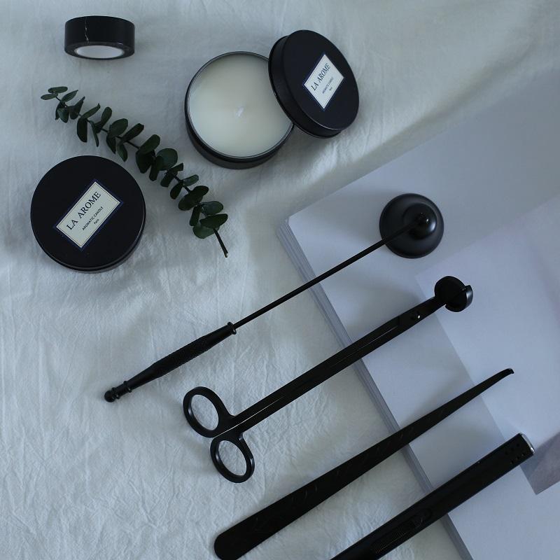 香薰蜡烛专用金属灭烛器灭烛勾灭烛铃烛芯剪精致简约点火器工具