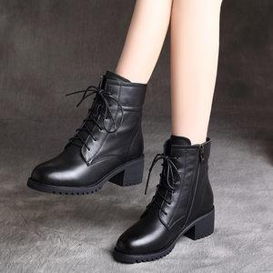 马丁靴2019新款冬季英伦风中女棉鞋