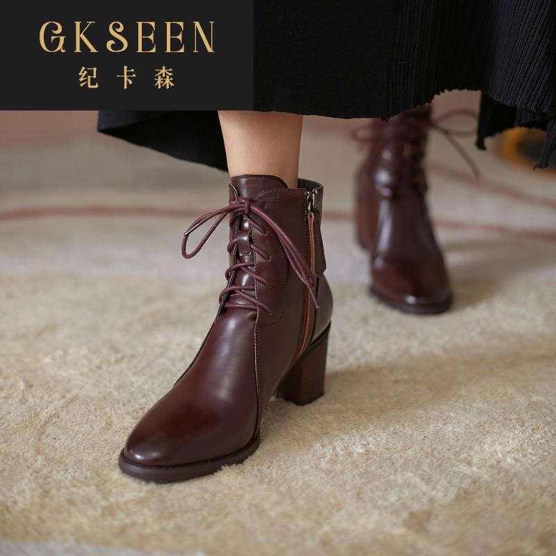GKSEEN马丁靴女短靴春秋单靴英伦风女靴子百搭短筒靴秋冬季RF0913