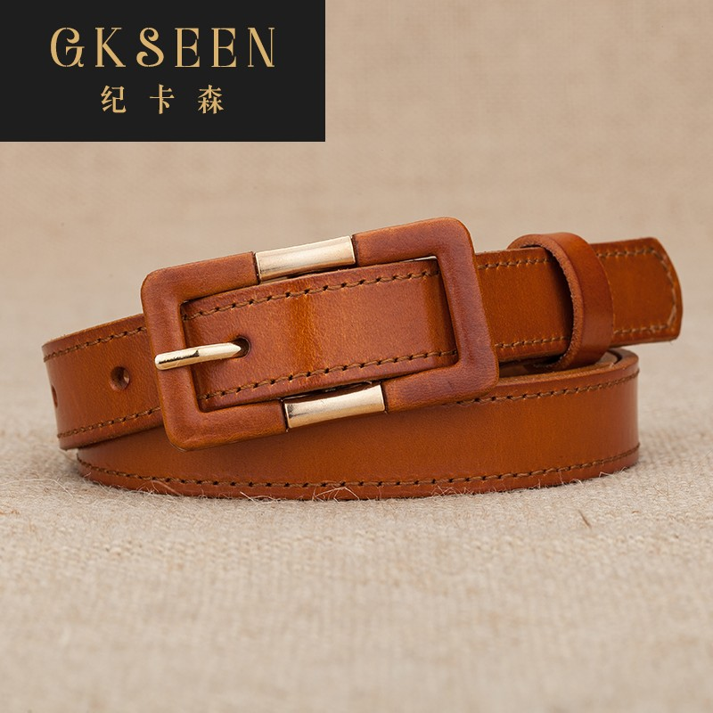 Gkseen fashion Korean simple cowhide dress decoration belt women thin Jeans Belt women rf0702