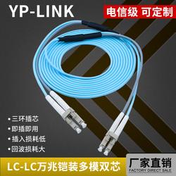 铠装防鼠50米多模万兆3米5米光纤LC-LC光纤跳线OM320米10米尾纤