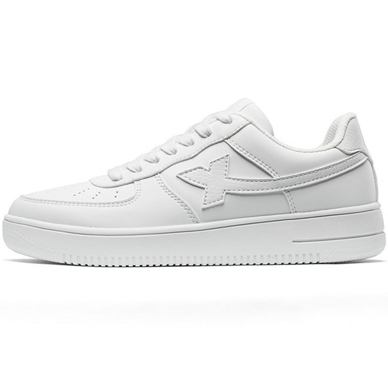 特步女鞋板鞋2021秋季鞋子白色休闲鞋男鞋空军一号运动鞋小白鞋女