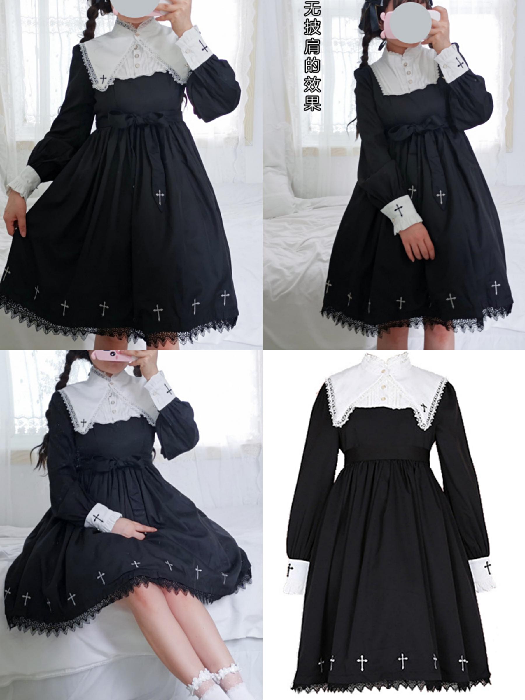 Lolita dark girl dress dark Department dress Lolita Dress Japanese soft girl black Lolita dark dress