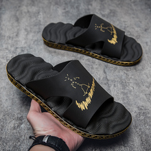 2021夏季韩版男士新款拖鞋男潮流室外外穿大码按摩底时尚凉拖鞋男