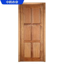 轻奢免漆门静音室内门印尼菠萝格实木门原木家用套装门毛坯房素门图片