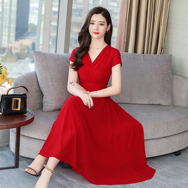 大红色沙滩裙特价精选