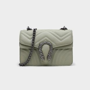 2019最新版包包法国同款小CK感包包洋气质感斜挎包链条包蛇头包