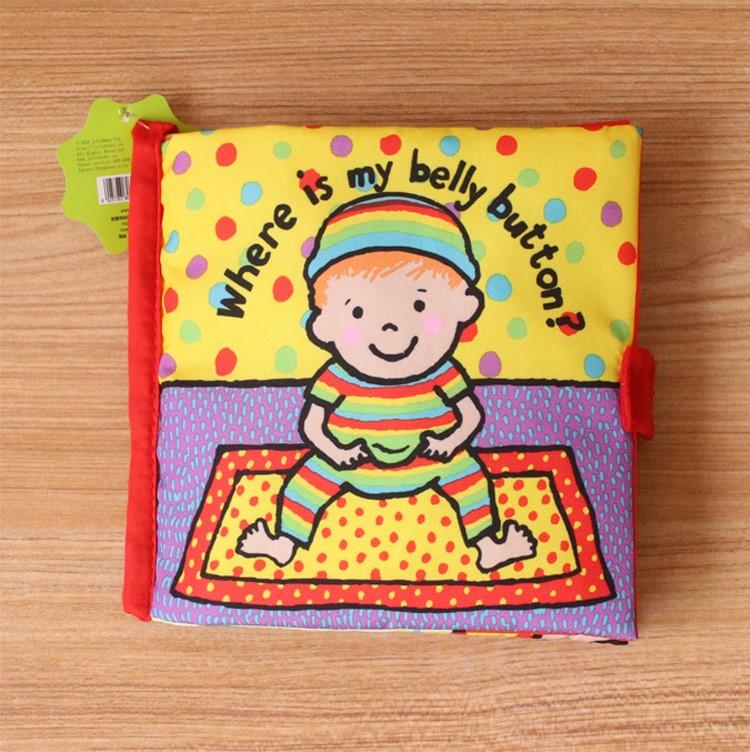 婴儿早教益智布书撕不坏烂立体书0-6个月-1-3岁宝宝带响纸玩具书