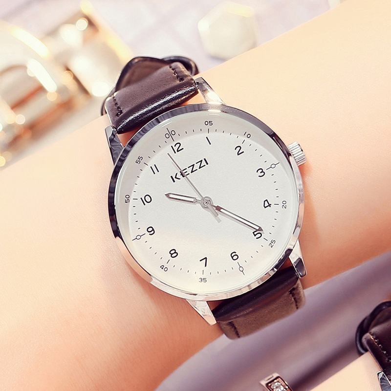 Kezzi brand Korean fashion belt for men and women lovers neutral student day gift fashion watch