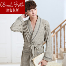 Bianpei Home Wardrobe and Sleeve 2018 Cotton Nightgown Brand High-end Nightgown Bathrobe Bathrobe