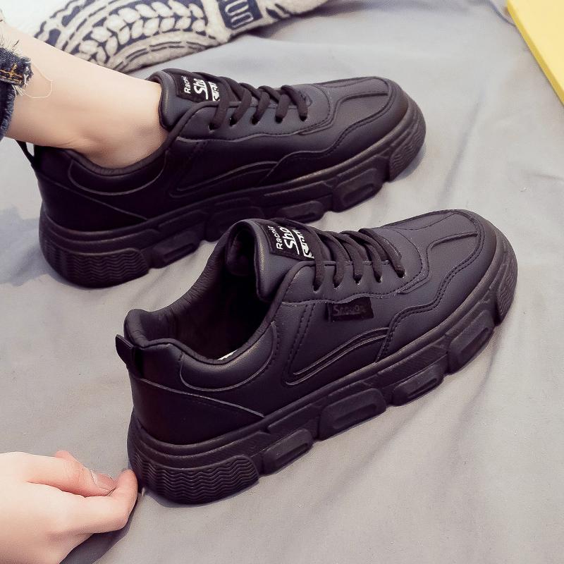 2021年春季新款全黑色运动老爹女鞋怎么样