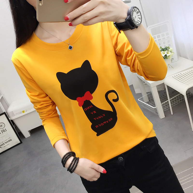 Spring 2020 new small shirt fat mm fattening plus plus size womens bottoming Shirt Long Sleeve T-Shirt Top Fashion