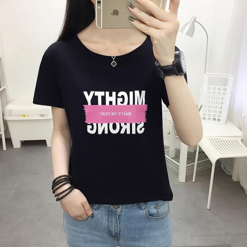 纯棉短袖t恤女宽松韩版夏季2020年新款大码女装半袖体桖上衣ins潮