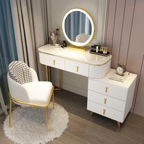 风化妆桌烤漆智能灯镜ins后现代网红现代简约大理石梳妆台卧室
