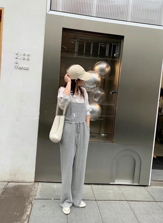 韩国东大门正品女装 春季新款 吊带背心 休闲气质百搭 连体裤chic
