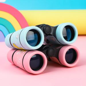 儿童望远镜小型便携男孩玩具高清高倍迷你双筒女孩微型户外望眼镜