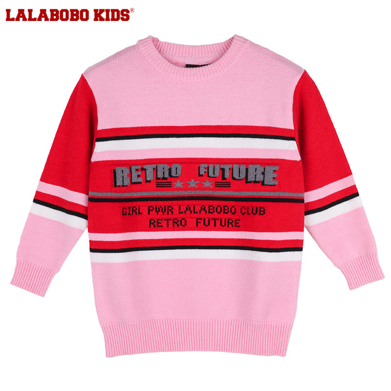 Labokids2018 winter new middle school childrens wool round neck pullover | l02d-kntm30